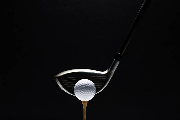golf ball and club - golf clubs stock photos and pictures