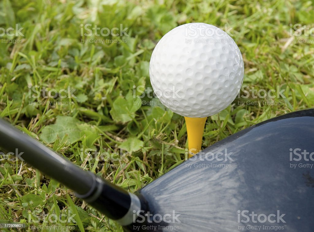 Golf Ball and Driver stock photo