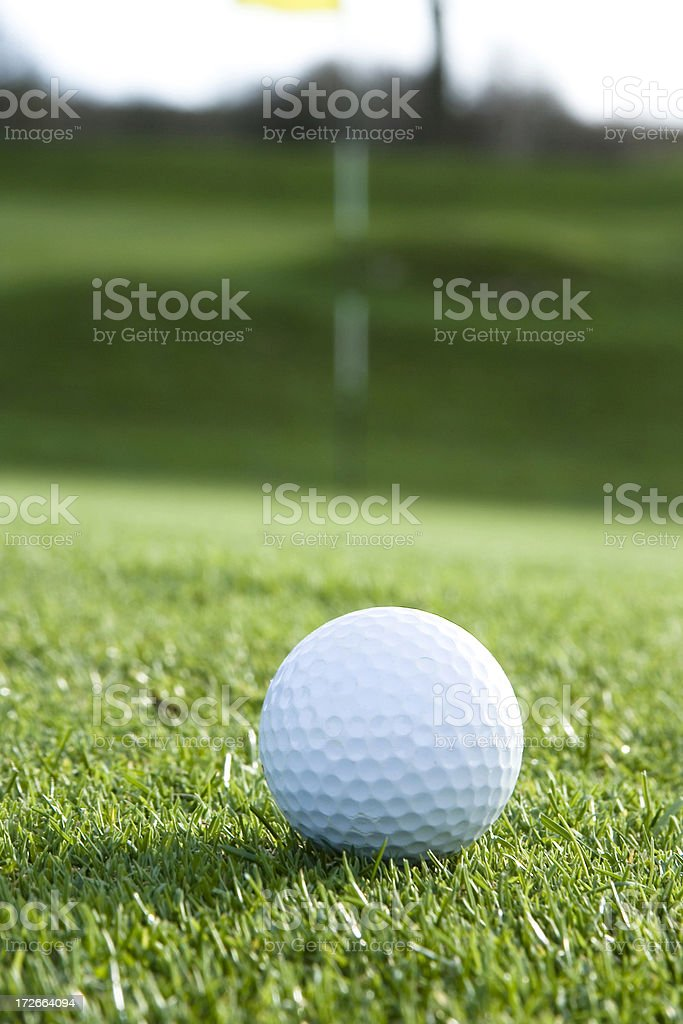 Golf Ball and Flag royalty-free stock photo