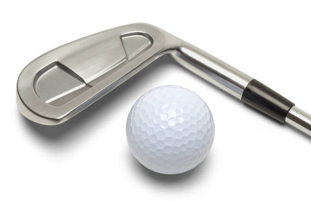 golf ball and golf club - golf clubs stock photos and pictures