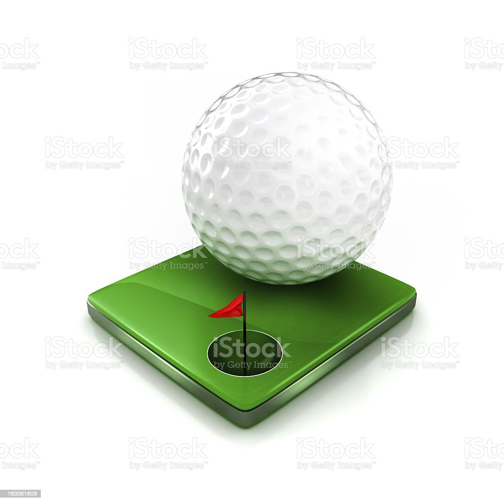 golf ball and hole royalty-free stock photo