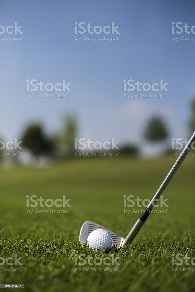 Golf ball and Iron Club royalty-free stock photo