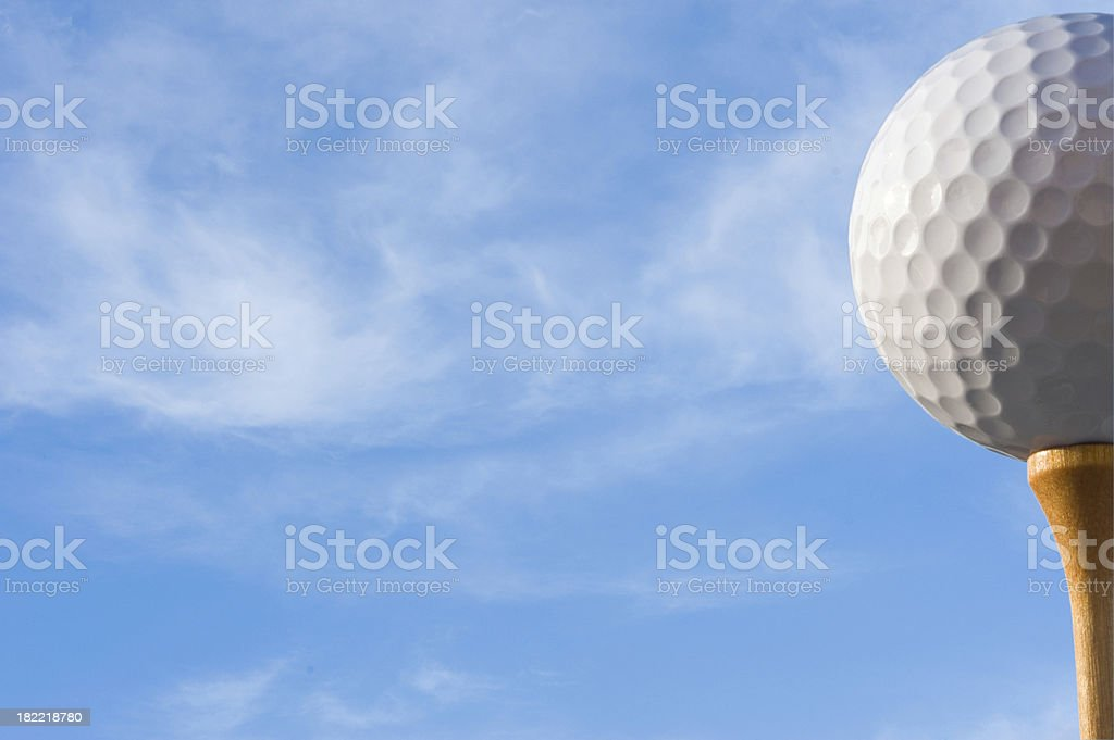 Golf ball and tee. royalty-free stock photo