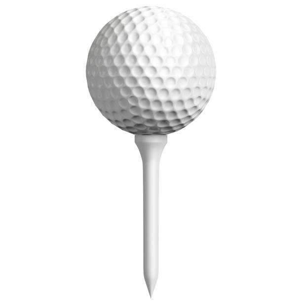 Golf ball and tee set - foto stock