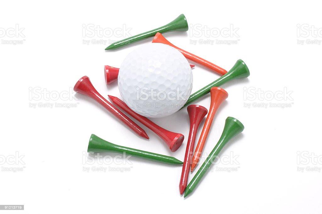 Golf Ball and Tees royalty-free stock photo