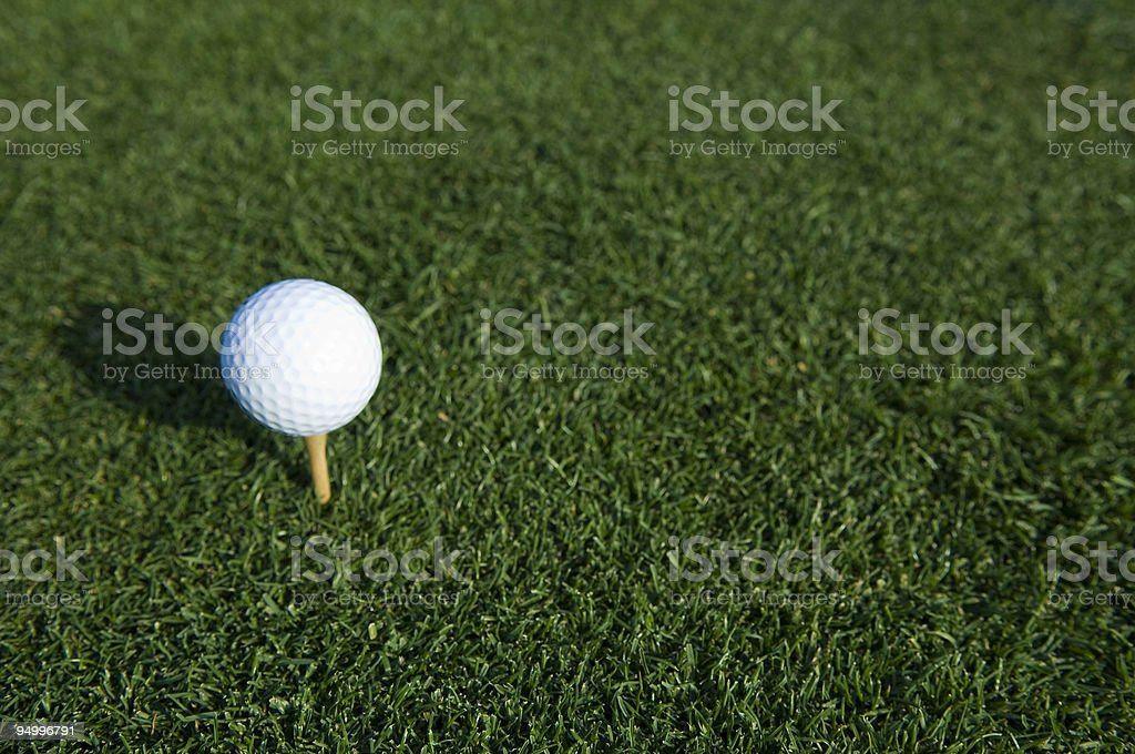 Golf Ball at a Golf Course royalty-free stock photo