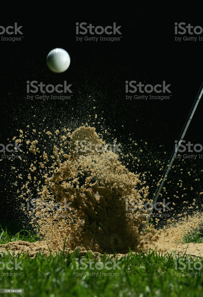 Golf Ball Being Hit stock photo