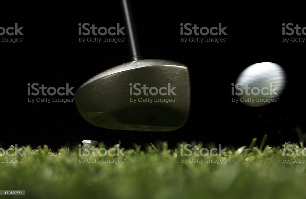 Golf Ball Being Hit royalty-free stock photo
