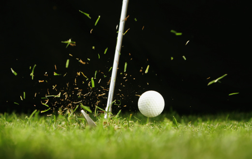 Golf Ball Being Hit Stock Photo - Download Image Now - iStock