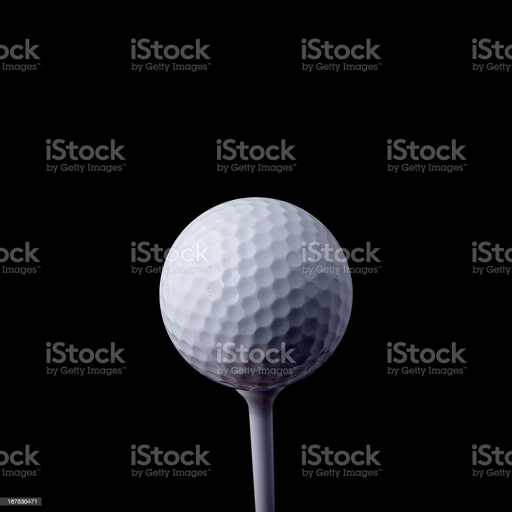 Golf ball closeup royalty-free stock photo