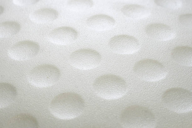 Golf ball dimples stock photo