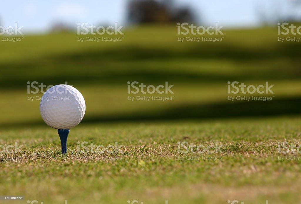 Golf Ball Drive royalty-free stock photo