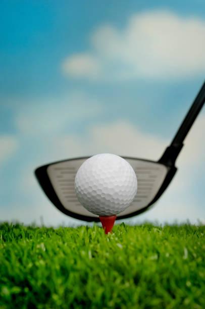 golf ball & driver stock photo