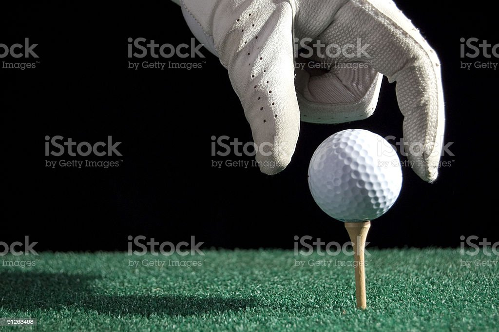 Golfball drop royalty-free stock photo