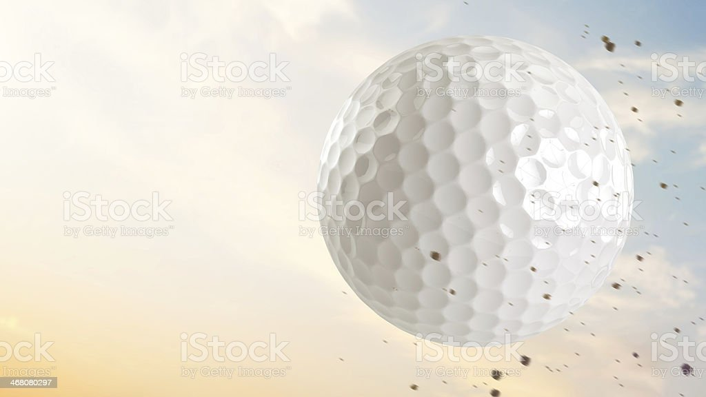 Golf Ball Flying stock photo