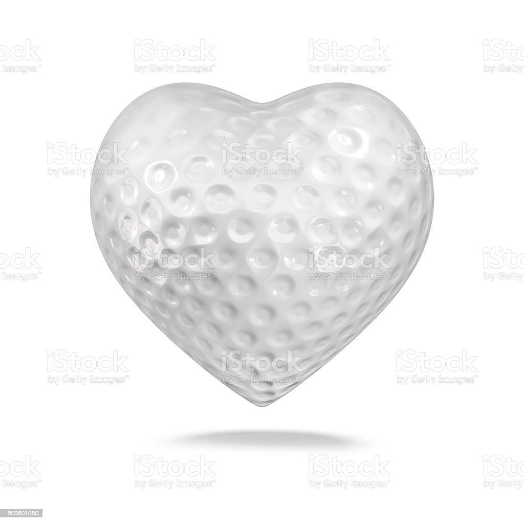 Golf ball heart stock photo