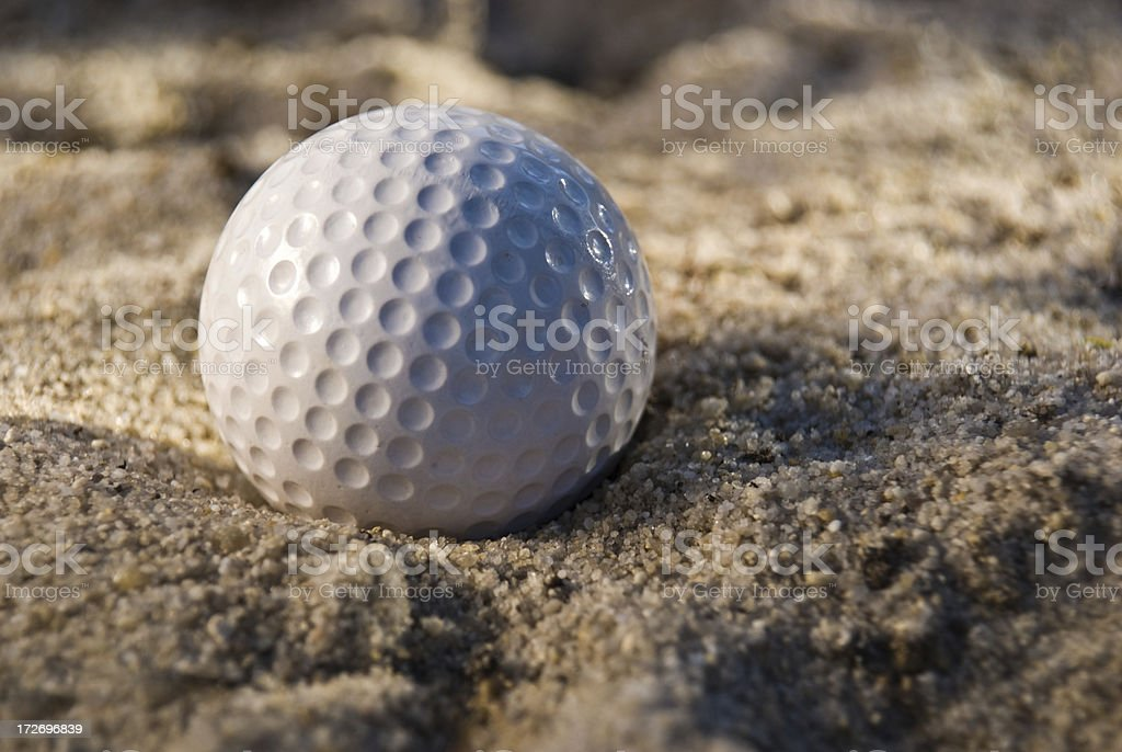 Golf Ball in a Bunker royalty-free stock photo