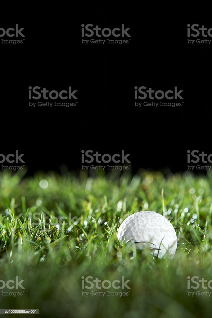 Pallina da Golf con erba foto stock royalty-free