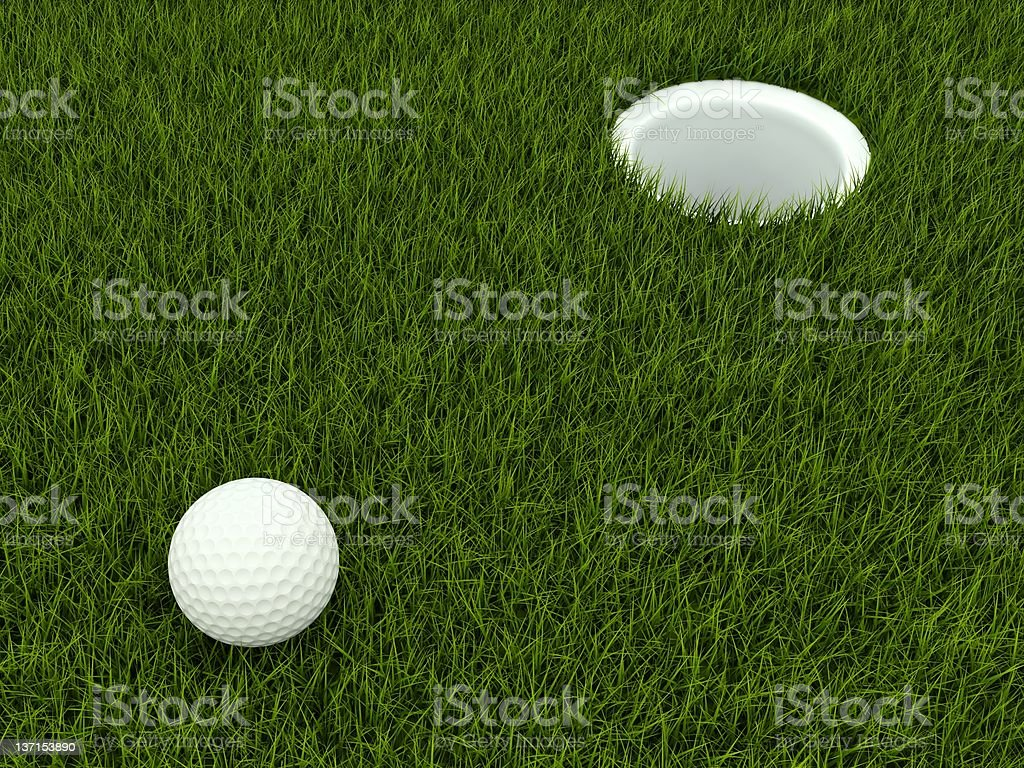 Golf ball in the field royalty-free stock photo