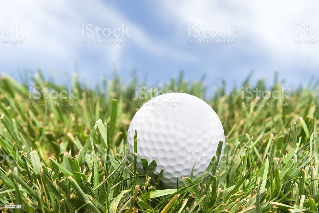 Golf ball in the rough royalty-free stock photo