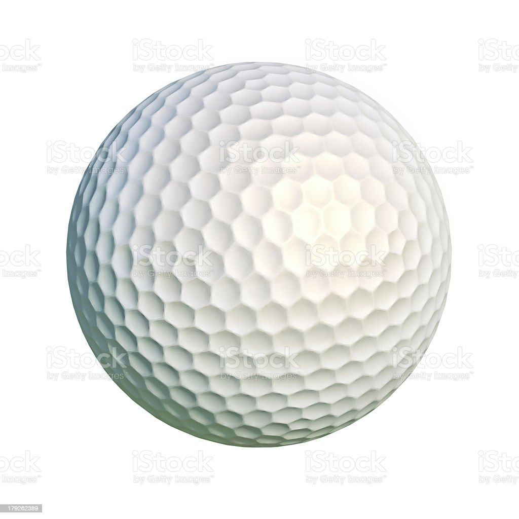 Golf ball isolated at white background. royalty-free stock photo