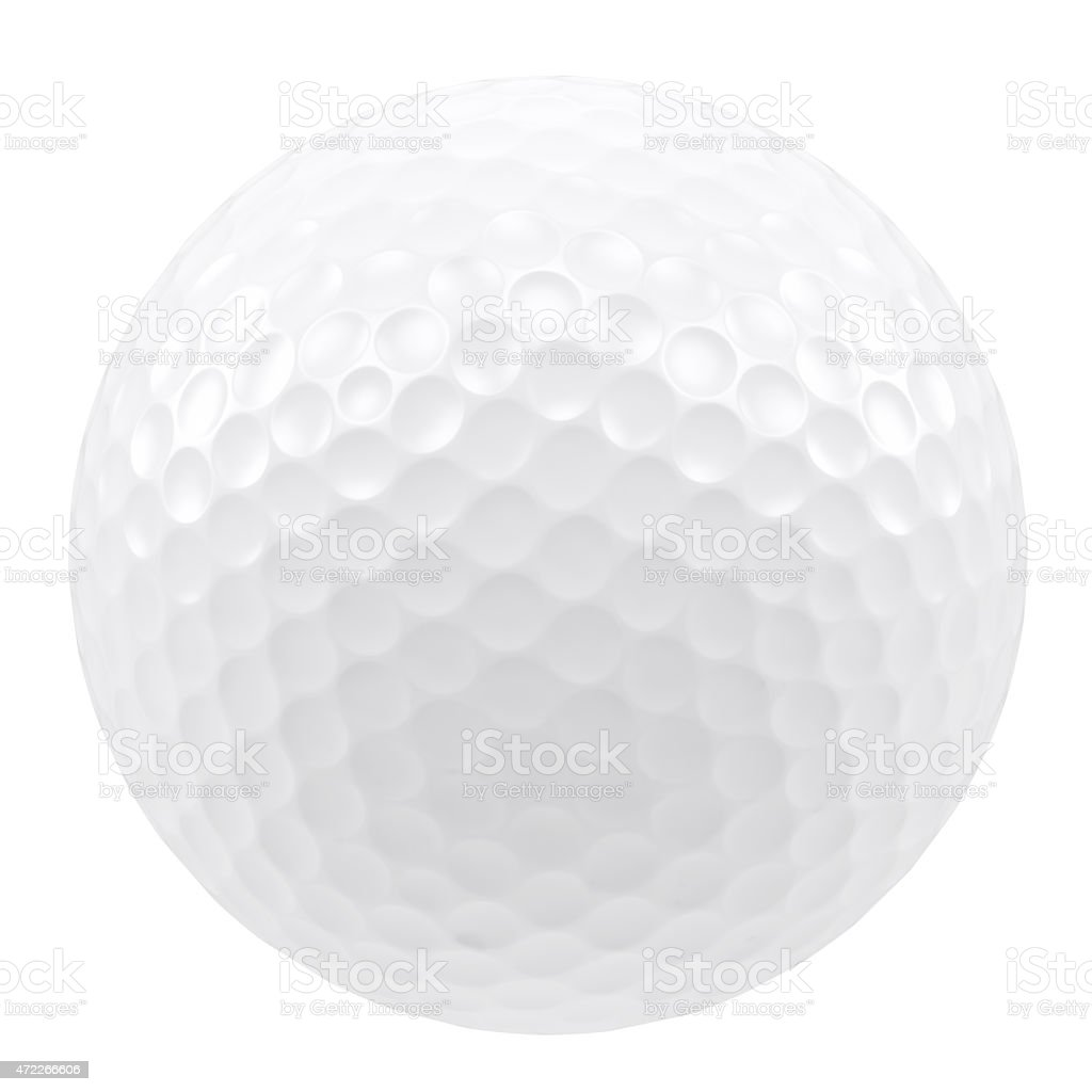 Golf ball isolated on a white background stock photo