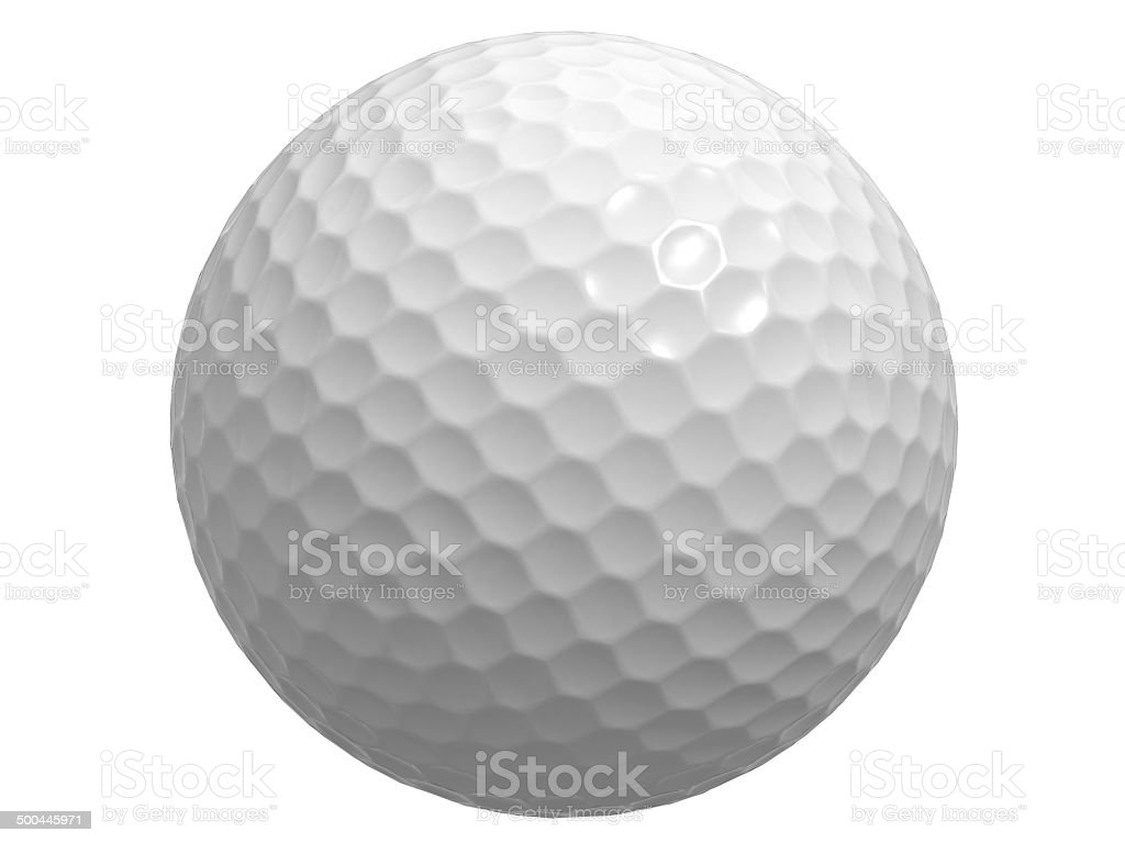 Golf ball isolated on white stock photo