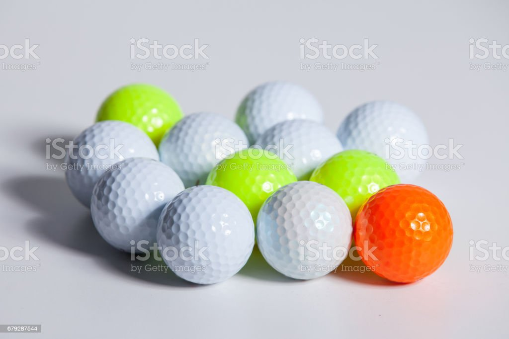 Golf ball isolated on white wiht Clipping path stock photo