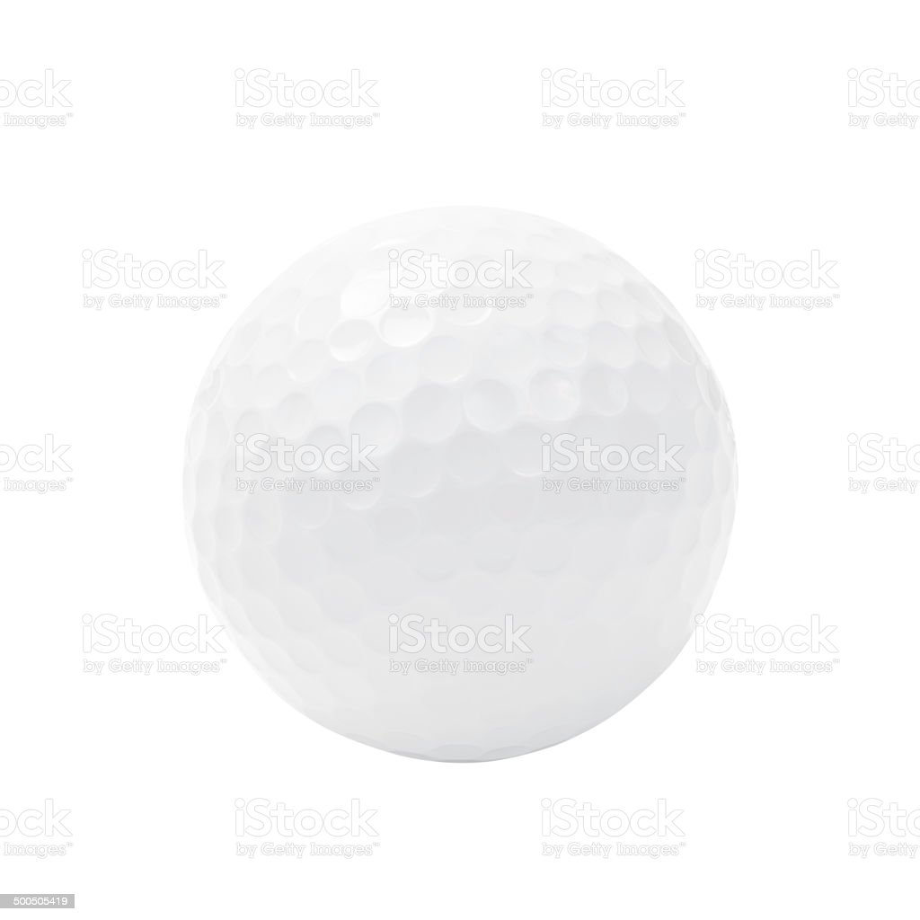 Golf ball isolated on white with clipping path. stock photo