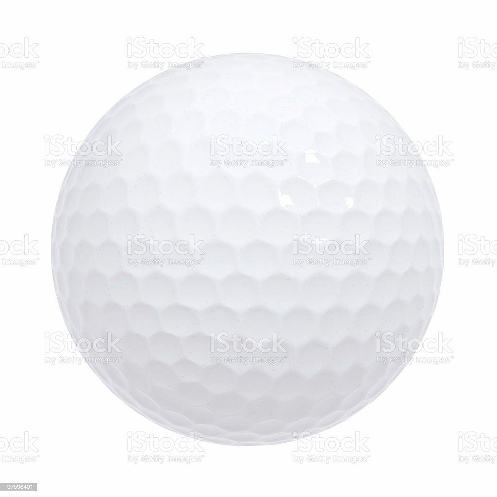 Balle de Golf isolé photo libre de droits