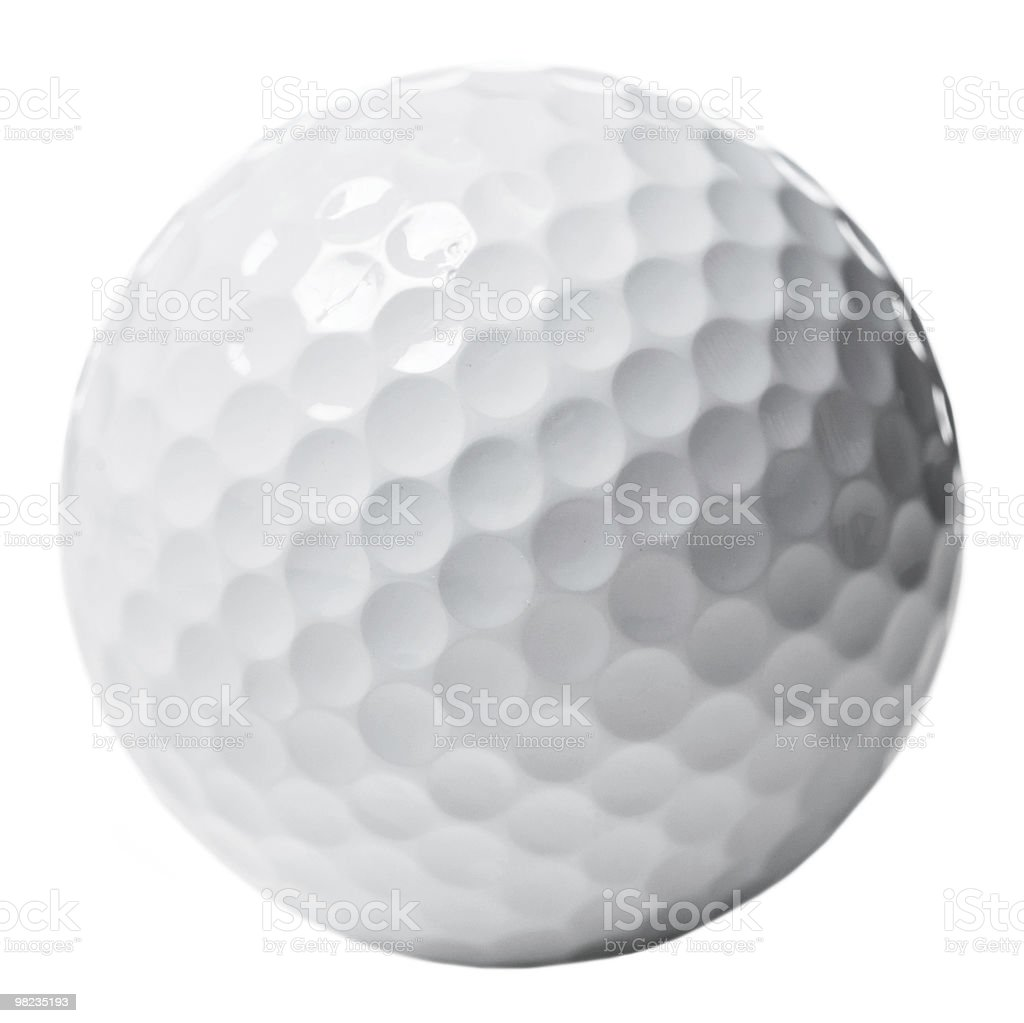 Golf ball isolated royalty-free stock photo