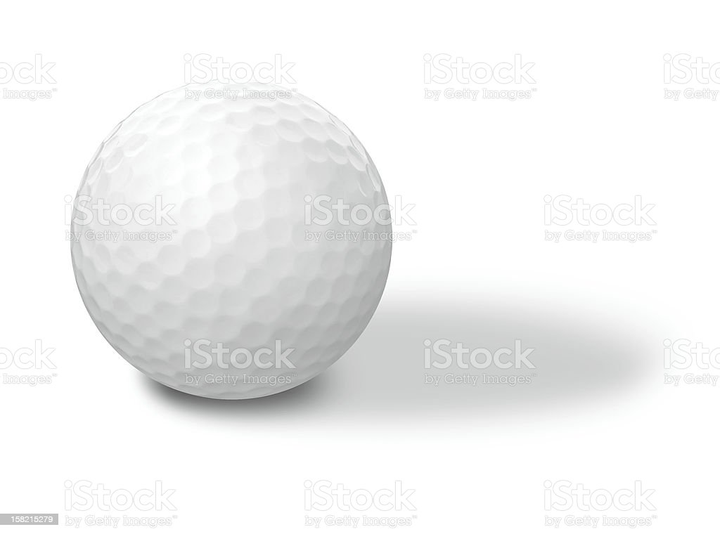Golf ball on a white background royalty-free stock photo