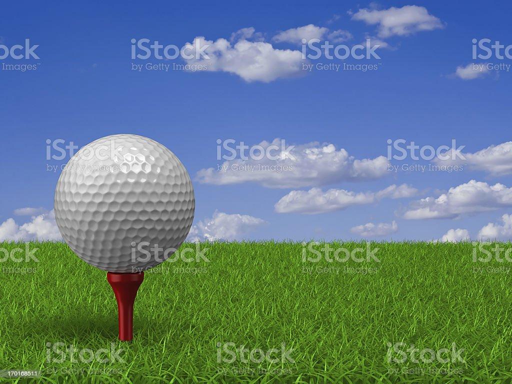 Golf Ball on Grass stock photo