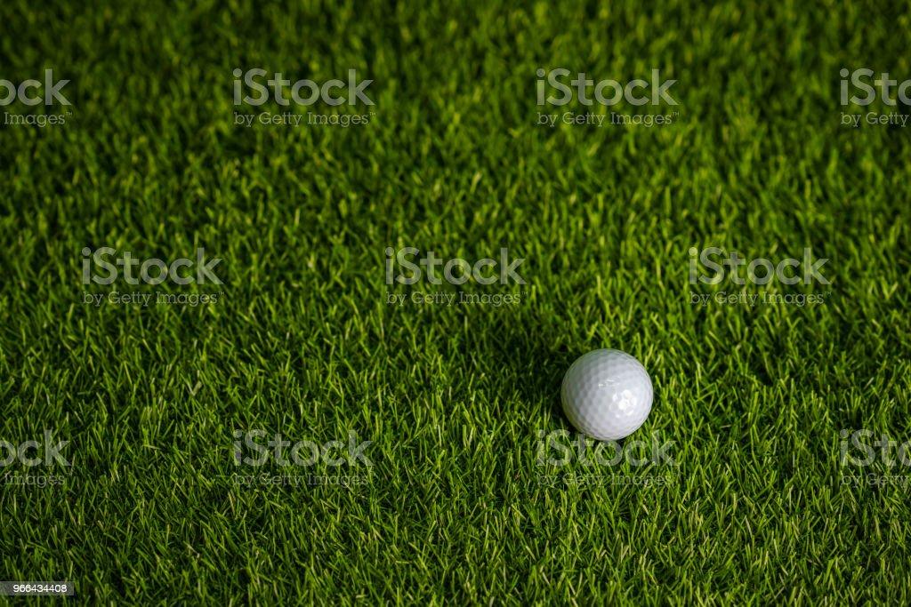 Golf ball on green golf