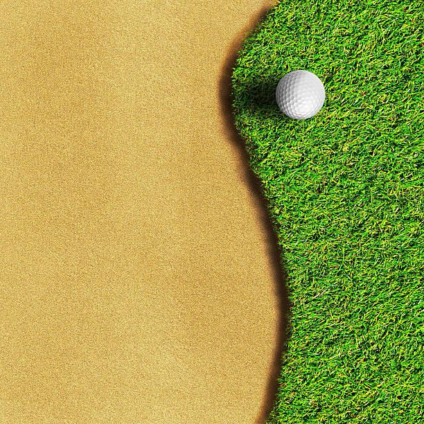 Golf ball on green grass field Golf ball on green grass field green golf course stock pictures, royalty-free photos & images