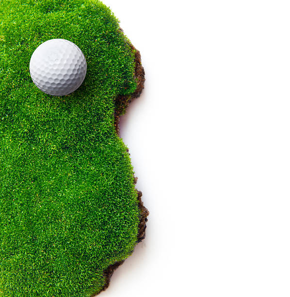 Golf ball on green grass Golf ball on green grass field. green golf course stock pictures, royalty-free photos & images