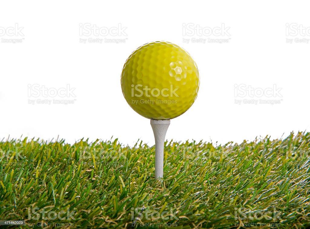 Golf ball on green grass royalty-free stock photo