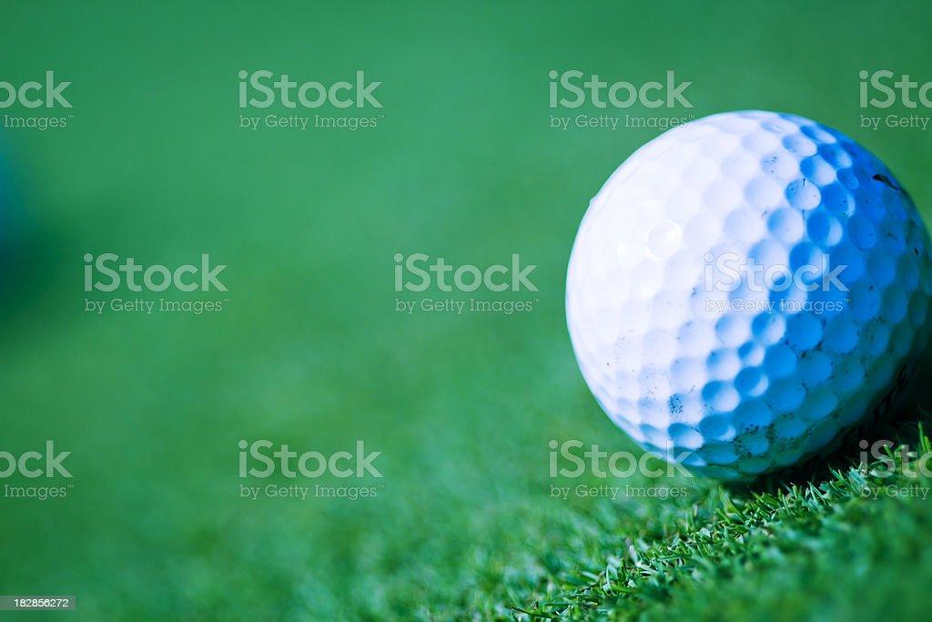 Golf ball on green royalty-free stock photo