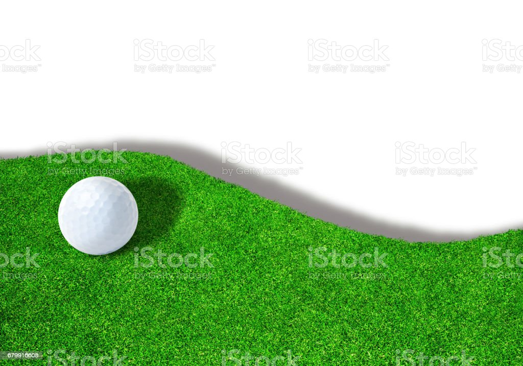 Golf Ball on Sand Trap With Copy Space stock photo