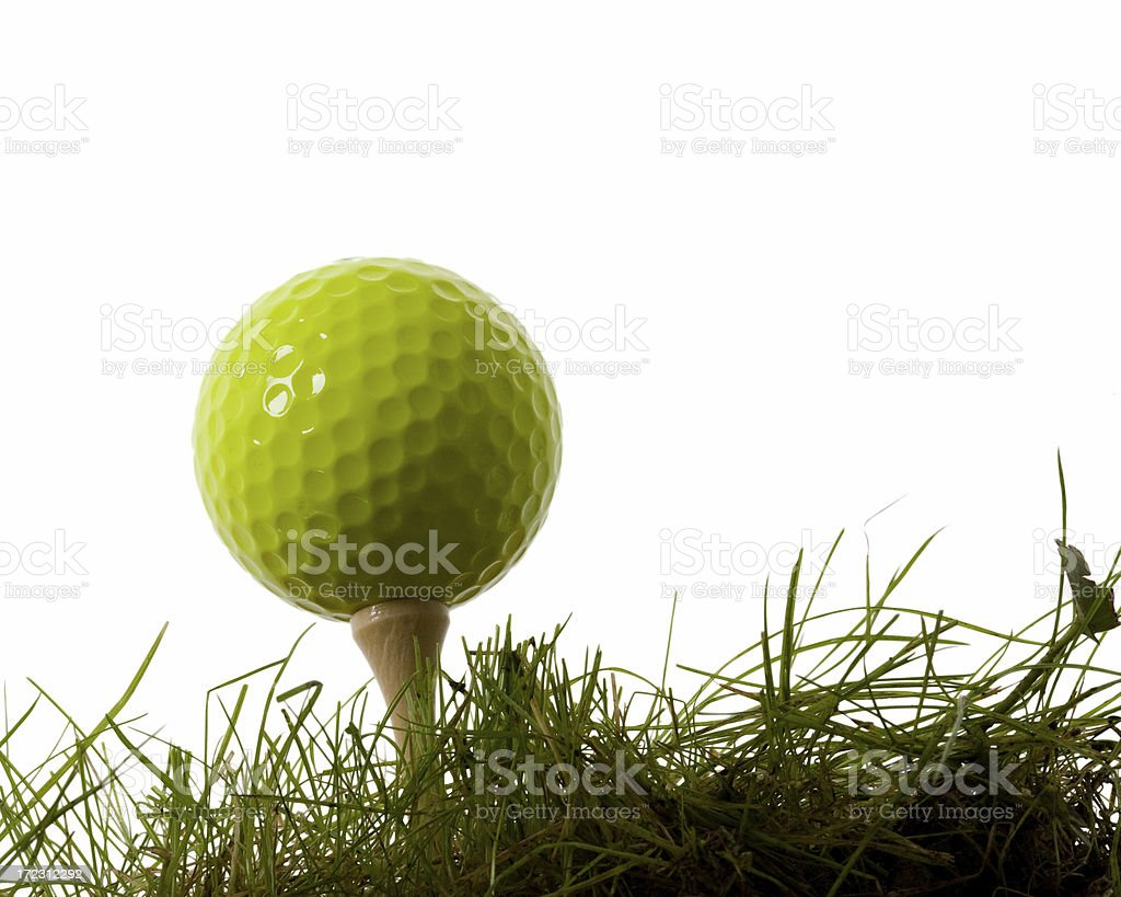 Golf Ball on Tee number 2 stock photo