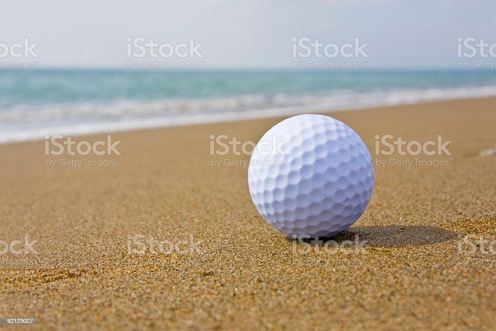 Golf Ball on the beach royalty-free stock photo