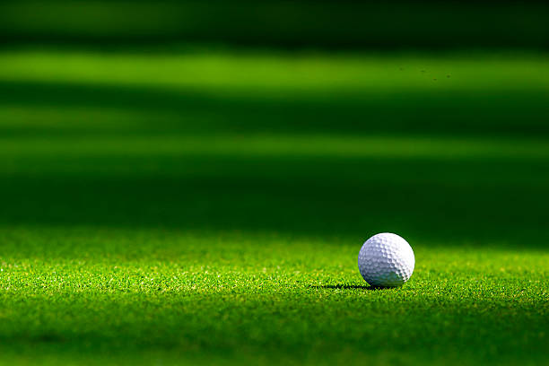 Golf ball on the green Golf ball on the green golf ball stock pictures, royalty-free photos & images