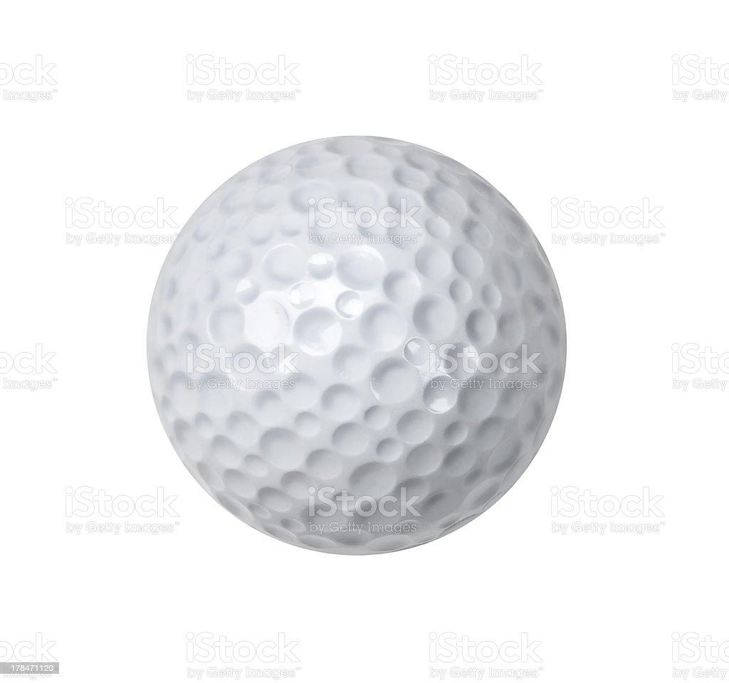 Golf ball on white royalty-free stock photo