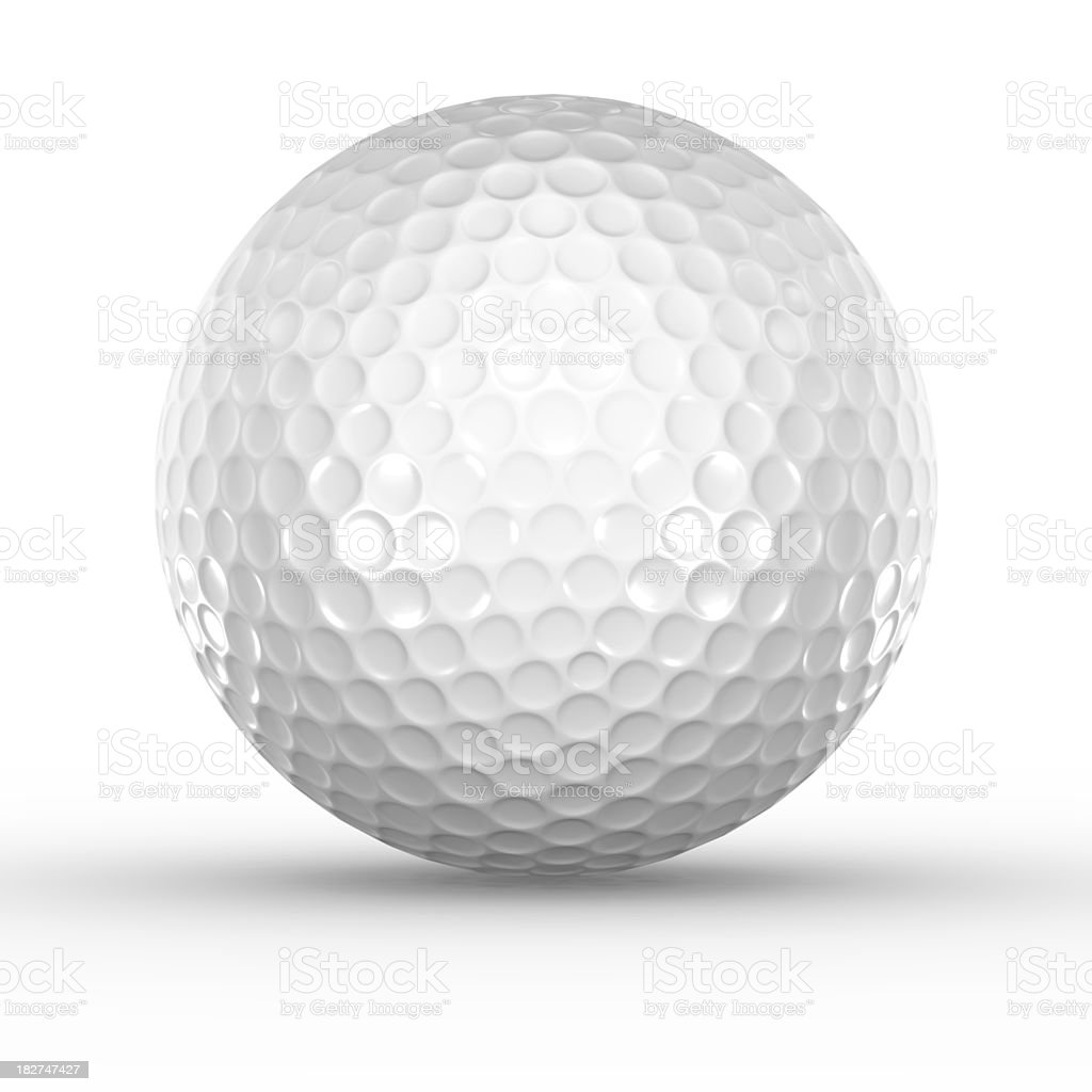 Golf Ball on white royalty-free stock photo