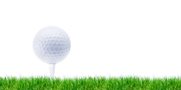 Golfball Golfball Isilated green golf course stock pictures, royalty-free photos & images