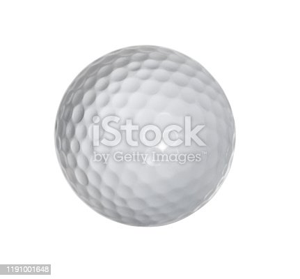golf, ball, isolated, white background