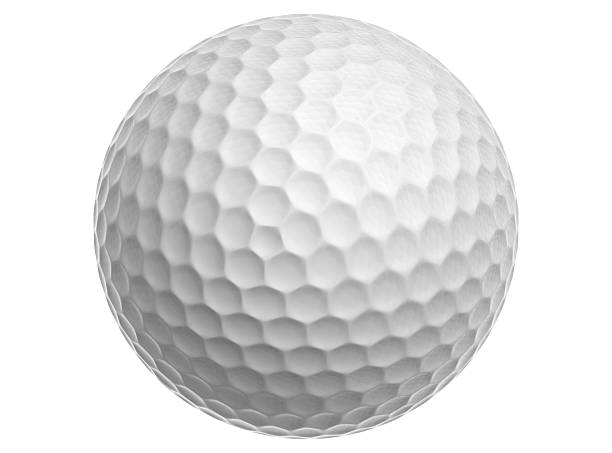 Golf Ball White Golf Ball on a White Background golf ball stock pictures, royalty-free photos & images