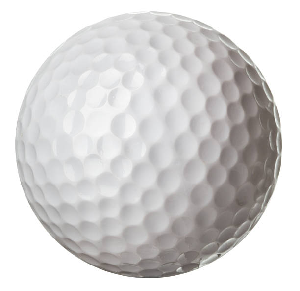 Golf ball Golf ball isolated on white background golf ball stock pictures, royalty-free photos & images