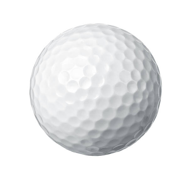 Golf ball Close up of a golf ball isolated on white background golf ball stock pictures, royalty-free photos & images