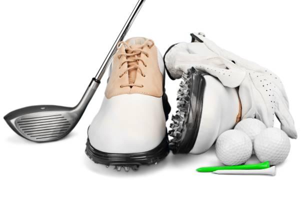 golf ball  - schiebermütze stock-fotos und bilder